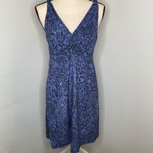 Athleta Nearly Nautical Blue Chrysanthemum dress-8